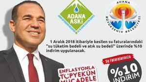 Adanada su faturalarında indirim başladı