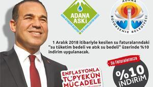 Adana'da su faturalarında indirim başladı
