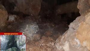 PKKlı teröristlerin 3 katlı, 5 odalı kış sığınağı