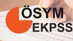 EKPSS tercihleri için son gün ne zaman Sonuçlar ne zaman açıklanacak
