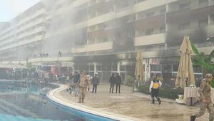 Hatayda bir termal otelde yangın çıktı