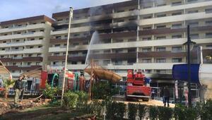 Termal otelde korkutan yangın (3)
