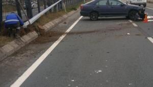 Trabzon'da otomobil refüje çarptı: 2'si çocuk, 5 yaralı