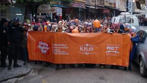 Kiliste kadınlardan şiddet protestosu