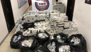 Mersinde 21 bin 700 paket kaçak sigara ele geçirildi