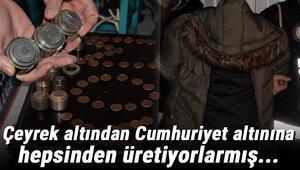 Diyarbakırda sahte altın imalathanesine baskın