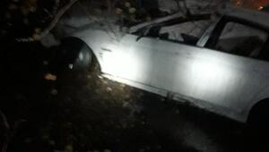 Makedonların bulunduğu araç gümrükte kaza yaptı: 3 yaralı