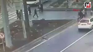 Ankaradaki otobüs kazası kamerada