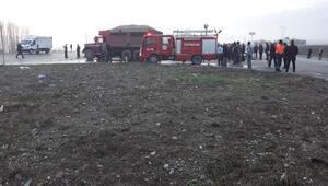 Merzifonda zincirleme kaza: 1 ölü, 1 yaralı