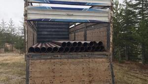 118 adet çelik boruyu çalan 3 kişi tutuklandı