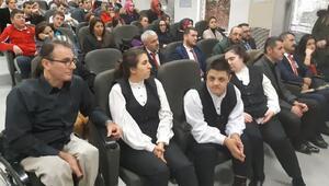 Atatürk Havalimanı apronunda Engelsiz Yaşam semineri