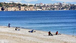 Antalyada güneş yüzünü gösterdi