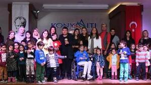 Minik öğrencilerden Engelsiz Ses Türkiye etkinliği