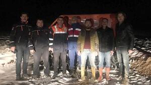 Karda mahsur kalan TEDAŞ ekibini AFAD kurtardı