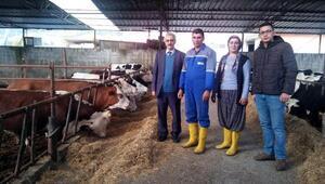 Hayvancılık ve arıcılık projelerini uygulayan genç çiftçilere ziyaret