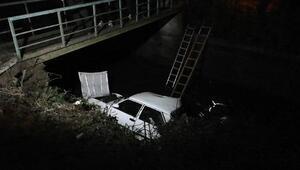 Otomobil köprüden sulama kanalına düştü: 3 yaralı