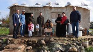 Hilvan Belediyesinden yoksul aileye yardım