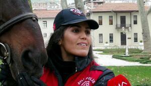 İstanbul Emniyetinin kadın süvarileri ilk devriyede