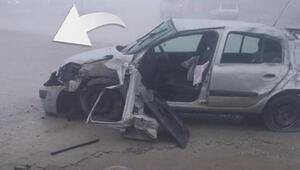 Şoke eden olay Kaza yaptı nasıl öldüğünü görenler ise inanamadı...