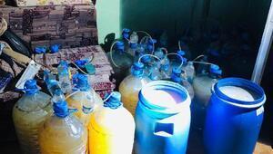 Uşakta 2 bin 331 litre sahte içki ele geçirildi