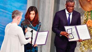 Nobel töreninde duygusal anlar