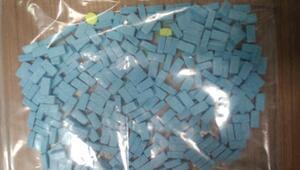 Cezaevinden izne çıkan uyuşturucu tacirinin üzerinde, 283 uyuşturucu hap ele geçirildi