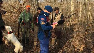 Kırklareli'nde hafta sonu 113 avcı denetimden geçirildi