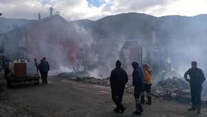 Köyde 3 ev ve 2 traktör yandı, 11 hayvan telef oldu