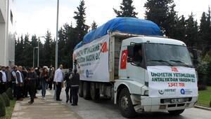 Antalyadan Suriyedeki çocuklara yardım
