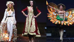 Ulusal kostümleri giydiler: Biri kainatın en güzeli seçilecek