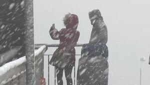 Son dakika hava durumu bilgisi... İstanbula kar yağışı başladı...
