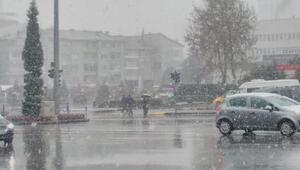Niğdede kar yağışı etkili oldu