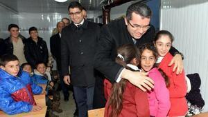 Erzurumda eğitimi yarıda kalan 18 öğrenci için konteyner okul