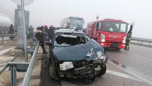 5 araç birbirine girdi: 9 yaralı