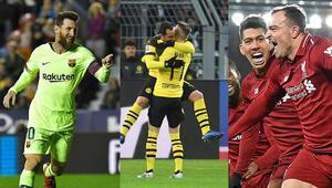 Dortmund ve Liverpool hata yapmadı, haftaya Messi damga vurdu