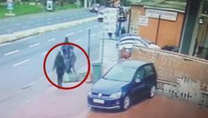 Bomba koyan şüphelilerin yakalanma anları kamerada
