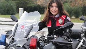 Samsunun tek motosikletli kadın polisi göreve başladı