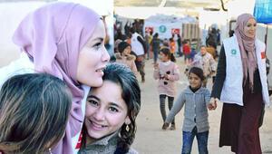 Ünlü oyuncu Gamze Özçelik, İdlibde Yokluk ve sığınma vardı...