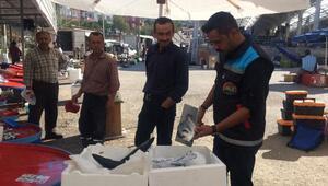 Büyükorhan' da balık tezgahları denetimden geçti