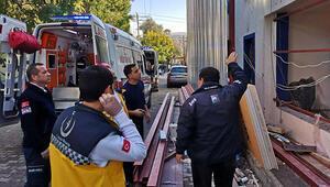 Bodrum'da tadilat yapılan binada çökme: Yaralı işçiler var