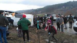 Bursada cenaze dönüşü kaza: 19 yaralı