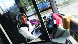 Kırşehirin ilk kadın otobüs şoförü