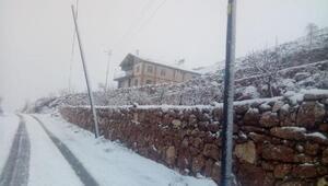 Gergerde kar yağışı etkili oldu