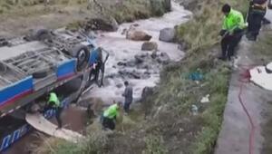 Peruda otobüs kazası: 10 ölü, 30 yaralı