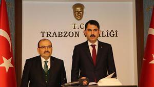 Bakan Kurum Trabzonda konuştu