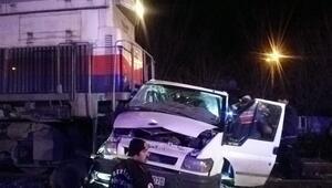 Korkunç tren kazası 150 metre sürükledi