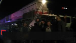 Denizli'de tren kazası: 1i polis, 5 yaralı