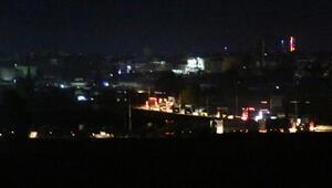 Kamışlı'da ABD'ye ait olduğu belirtilen askeri konvoy görüntülendi