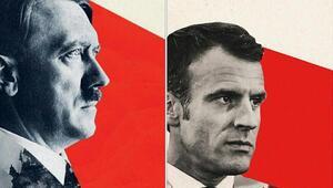 Adolf Hitleri andıran Macron kapağı tartışma yarattı