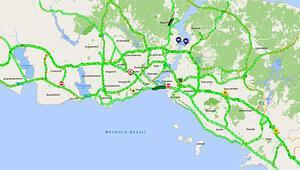 İstanbulda trafik yoğunluğu yüzde 1